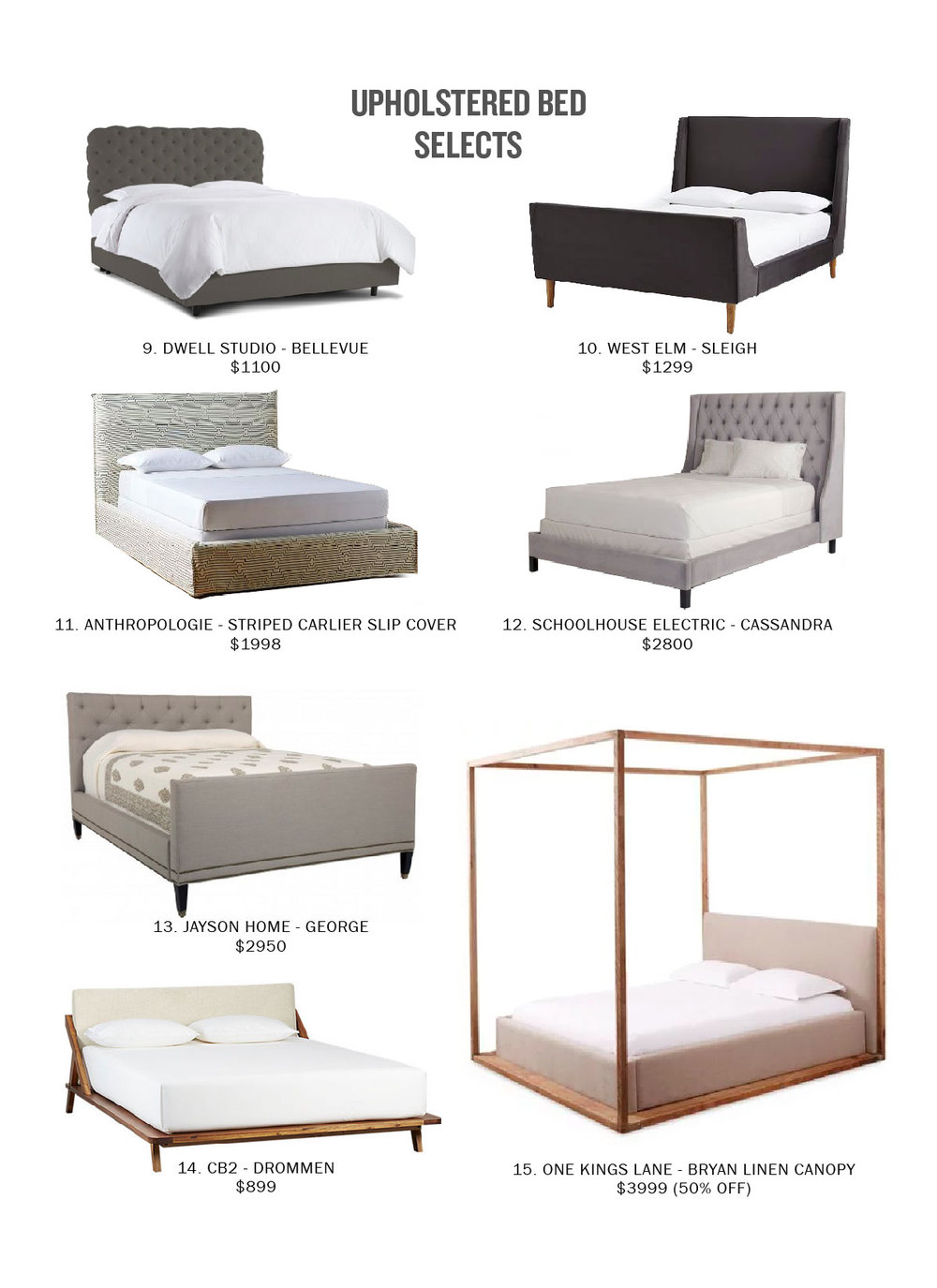 Upholstered bed selects by Casework