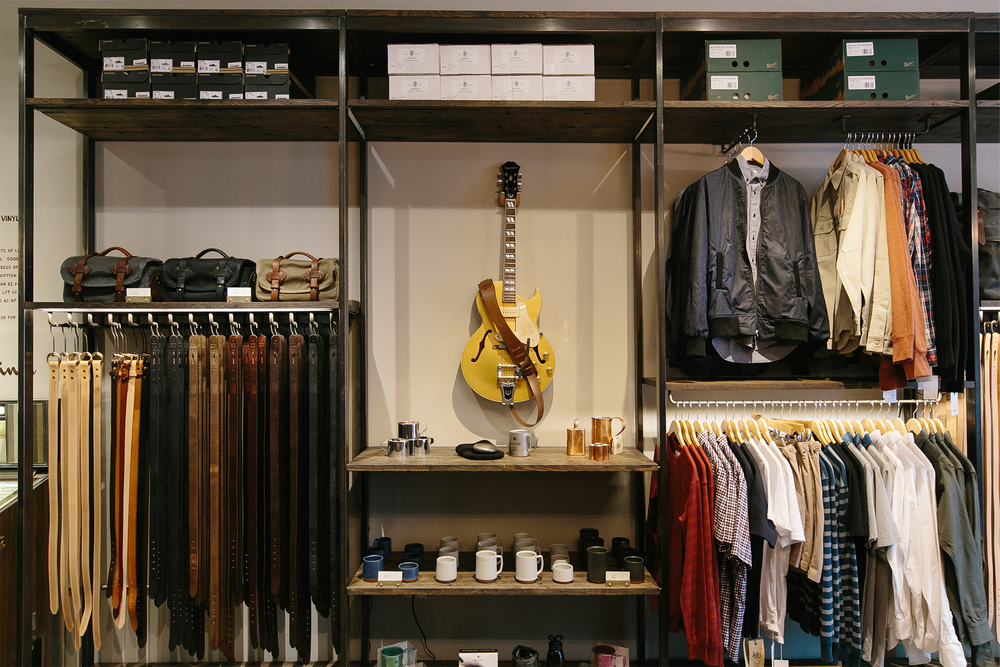 Retail Clothing & Leather Goods Display | Casework Interior Design | Portland, OR