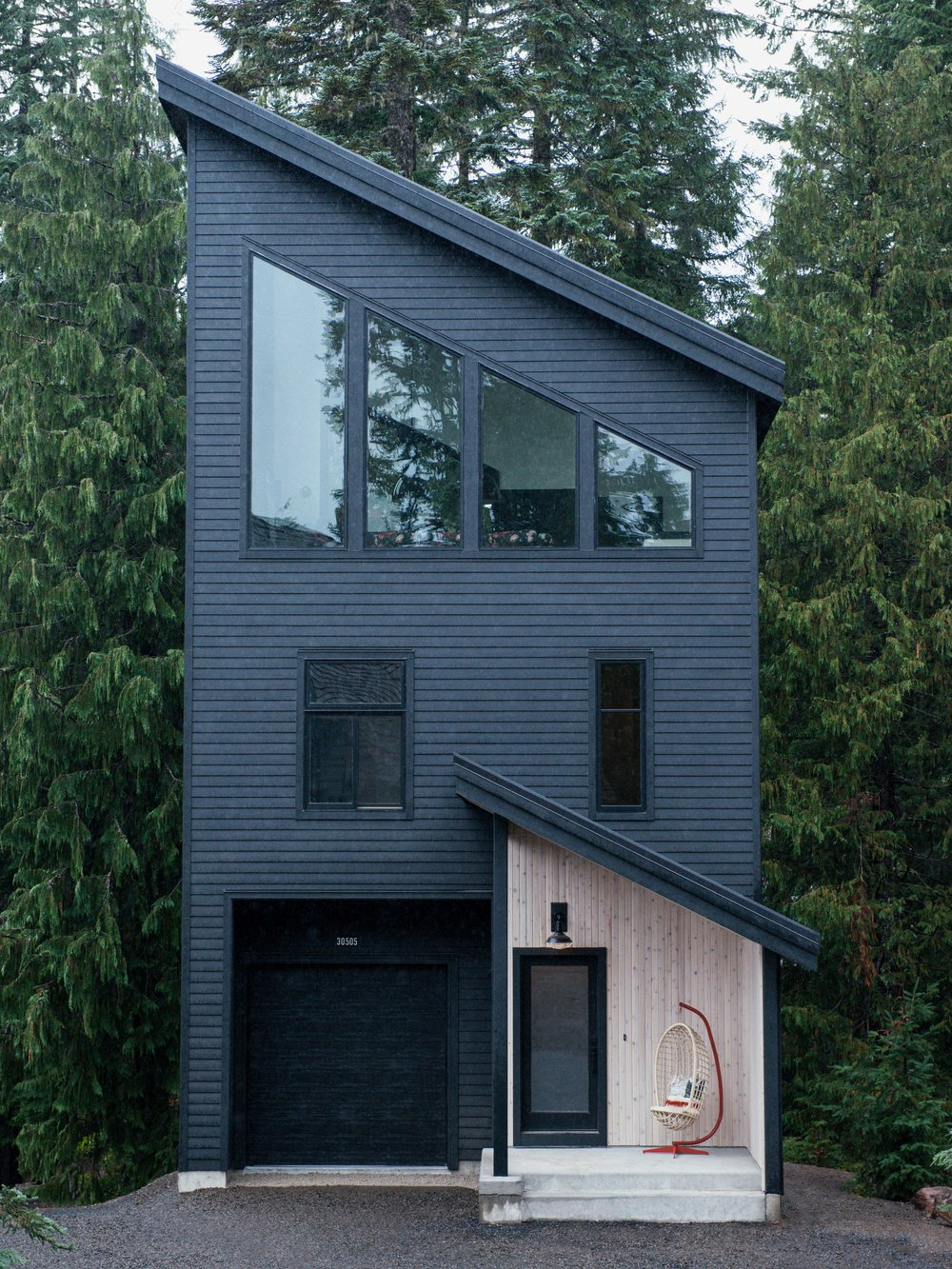Modern Black PNW Mountain Cabin | Casework Interior Design | Portland, OR