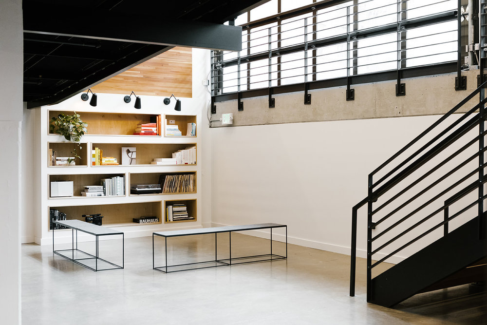 Bright Open Office Library Space | Casework Interior Design | Portland, OR