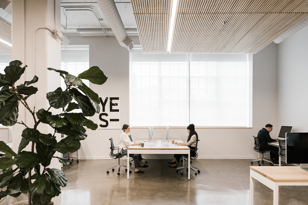 Bright Open Office Space | Casework Interior Design | Portland, OR