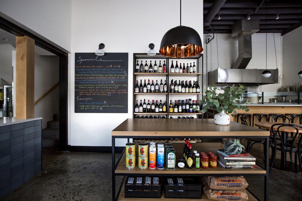 Justa Pasta Portland Oregon Italian Restaurant by Casework Interior Design photo by Carly Diaz