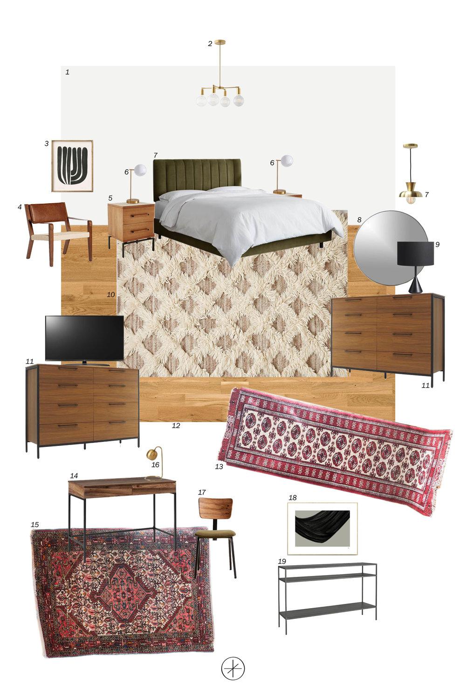 casework interior design industrial master suite