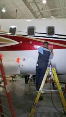 Aircraft refinishing