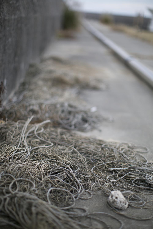 Coils of unused rope.