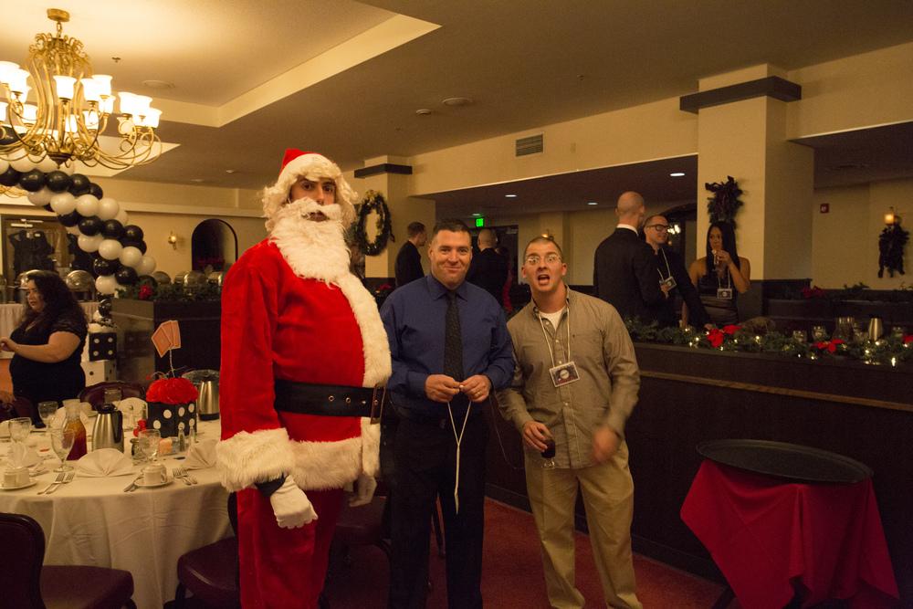 Santa Granting Christmas Wishes