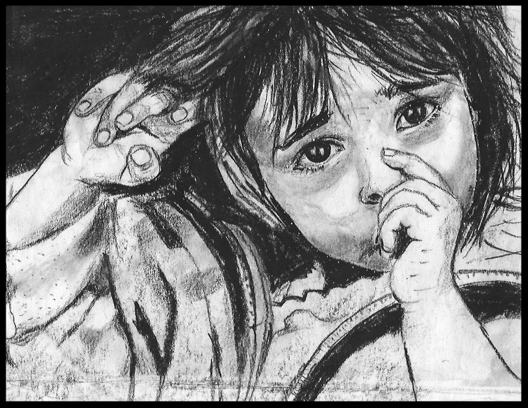 I often try to recreate through sketches and paintings from iconic photographs and add my own twist to it. This one from the Bosnian war tries to capture the hurt of war through the eyes of the child.