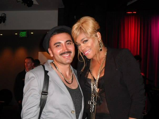 "Cutie pie Armando and T at ""T-Boz Unplugged"""