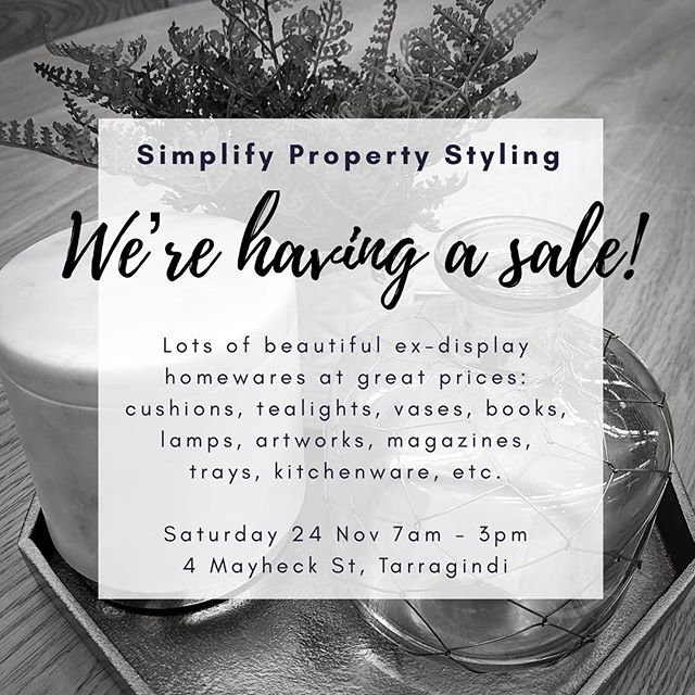 It will be your last chance to pick up some beautiful homewares at a fraction of the price! Last sale day this Saturday 24th November 🖤 #homewares #sale #art #vases #cushions #books #kitchenaccessories #cookbooks #bathroomaccessories #lamps #tealights