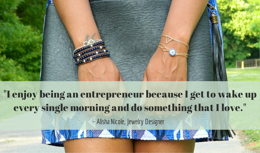 Cute LA Entrepreneur Spotlight Alisha Nicole Quote Jewelry Designer