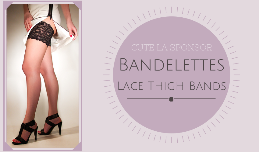 Bandelettes Lace Thigh Bands for anti chafing via Cute LA
