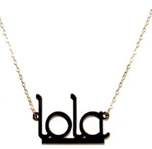 Moon & Lola Acrylic Name Necklace
