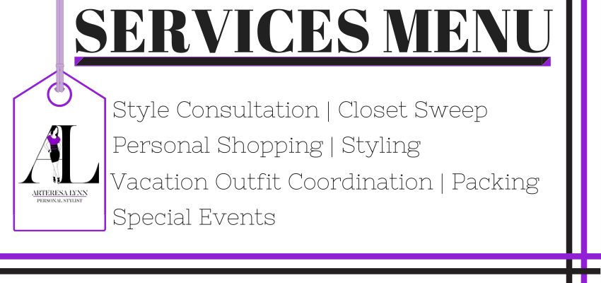 Arteresa Lynn Personal Styling Services Menu Los Angeles via Cute LA