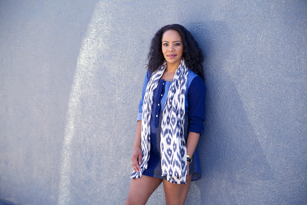 Fischer Clothing Scarf and Denim Dress via Cute LA