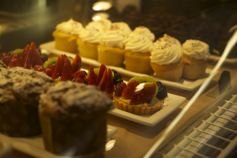 Closeup Coral Tree Cafe Desserts