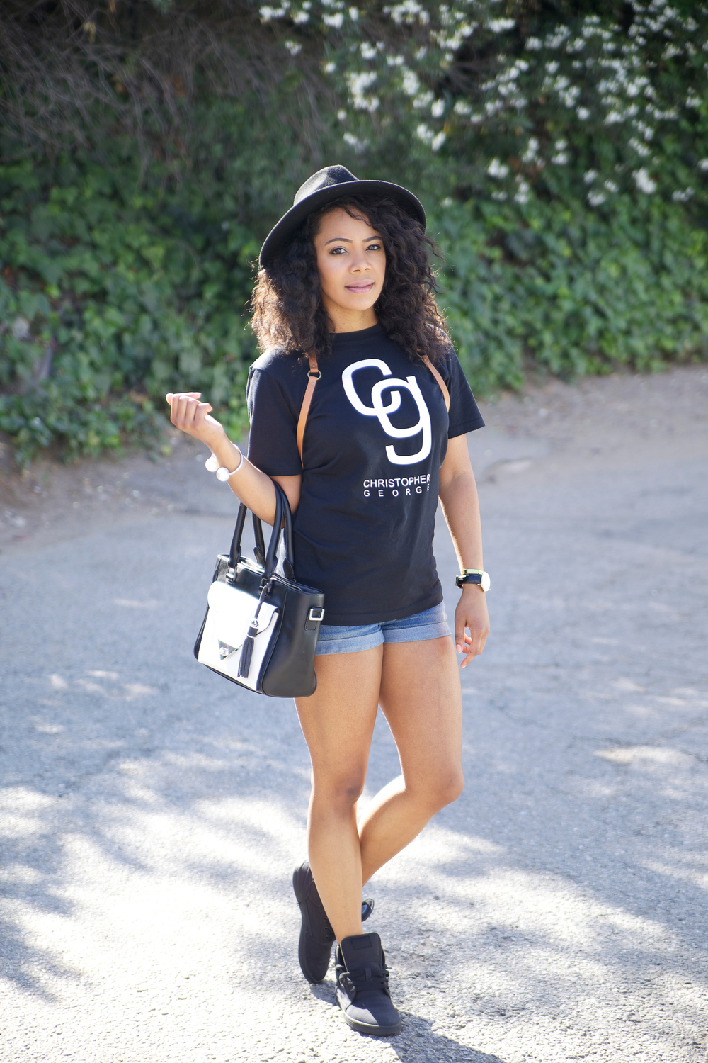 Christopher George Black Logo Tee