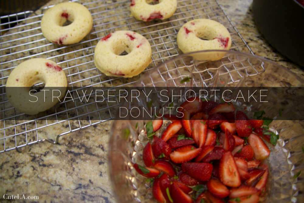 Strawberry Shortcake Donuts