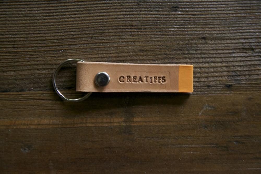 CreaTiffs Leather Keychain