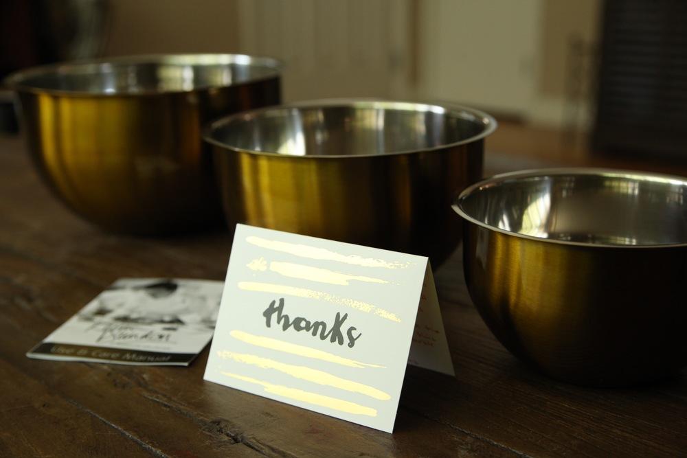 gold mixing bowls