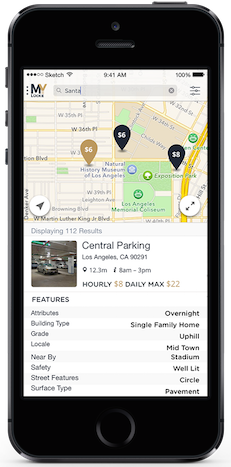 Iphone MyLucke App find parking