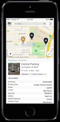 Iphone MyLucke App find parking