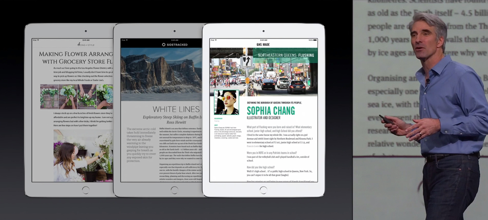 QNS MADE was featured on WWDC's keynote presentation at the launch of Apple News (June 2015).
