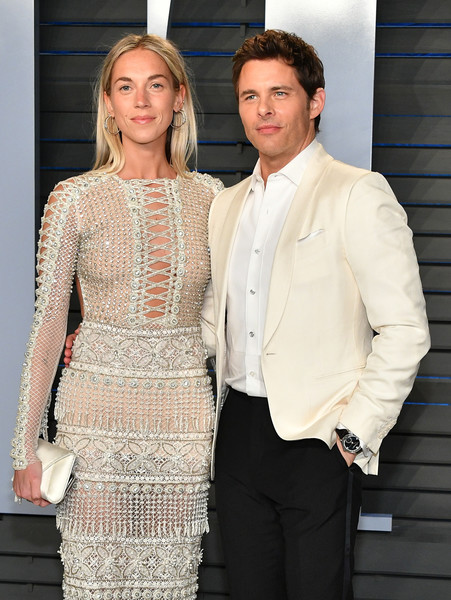 James Marsden and Edei wearing Raisa & Vanessa \ Vanity Fair Party 2018