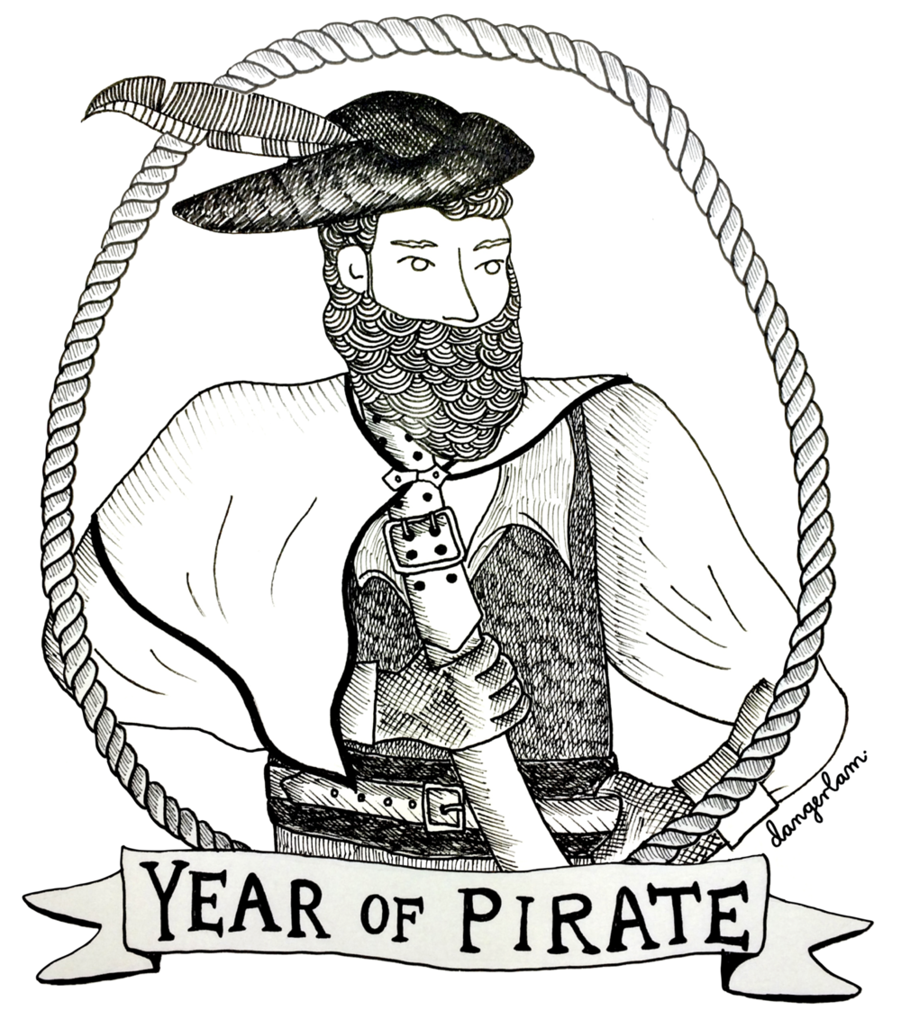 My likeness snappily captured in pirate-form by the dangerlam.