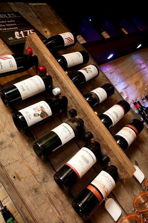 Reclaimed Oak Wine Rack