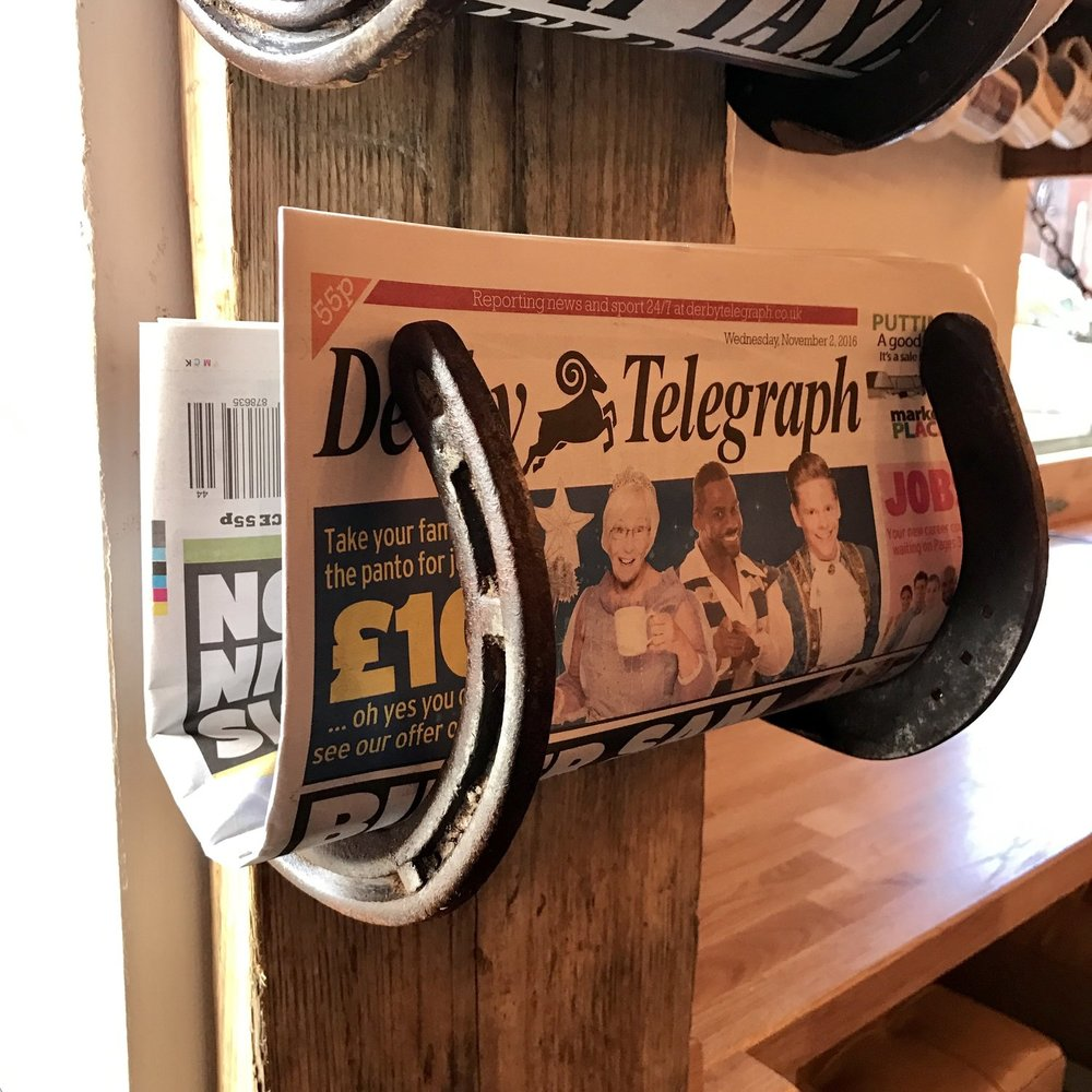Upcycled Horseshoe Paper Rack