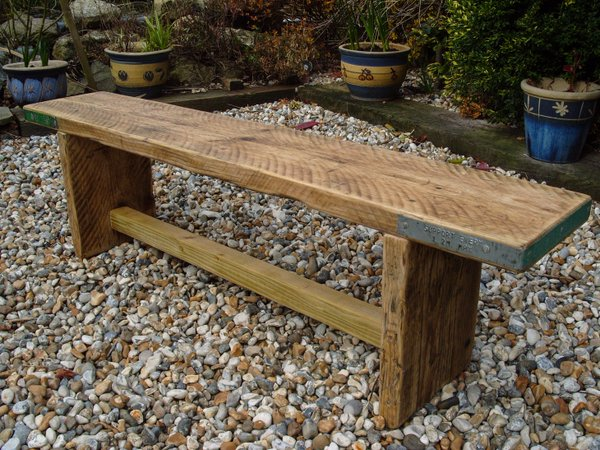 Upcycled Scaffold Board Bench