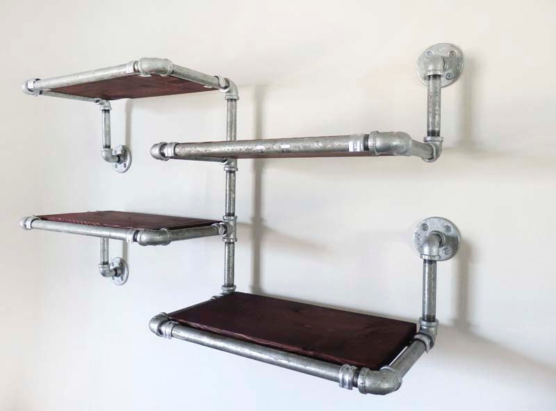 Industrial Pipe Shelving by Upcycled Creative