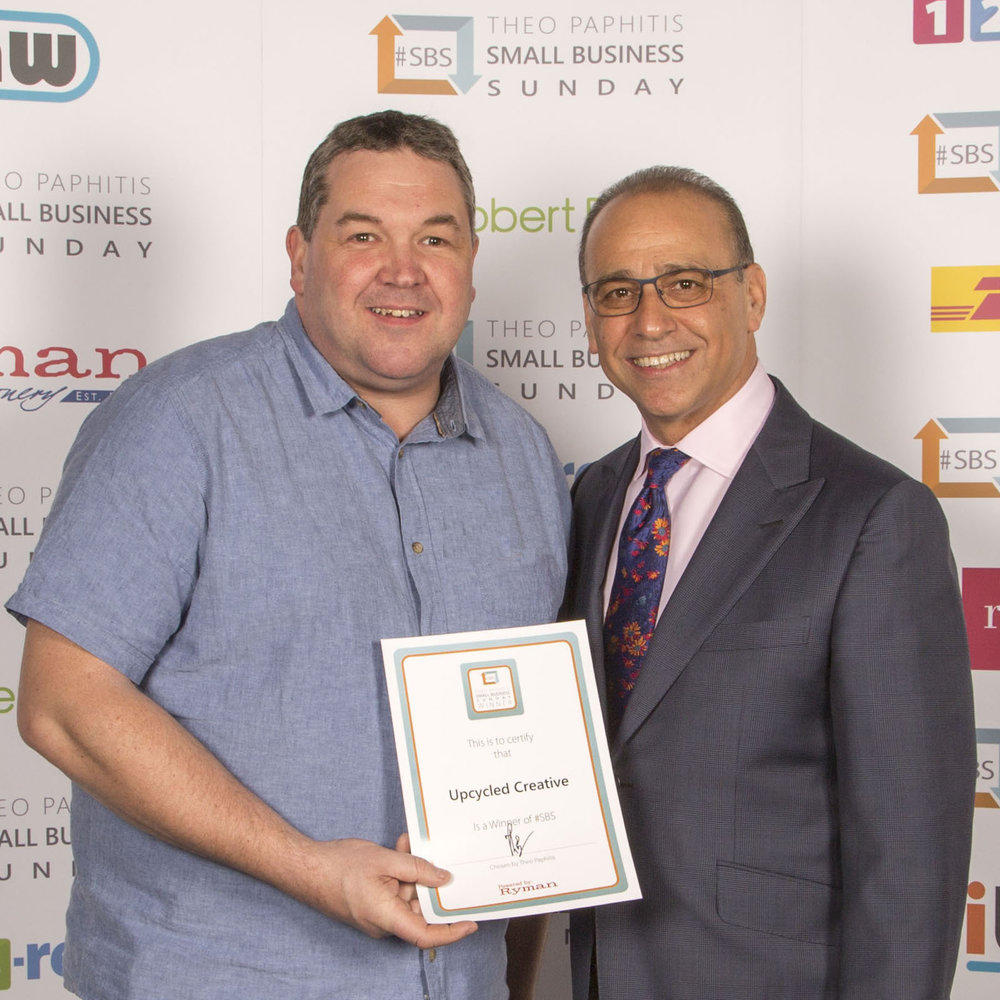 Upcycled Creative #SBS Winner Theo Paphitis Small Business Sunday