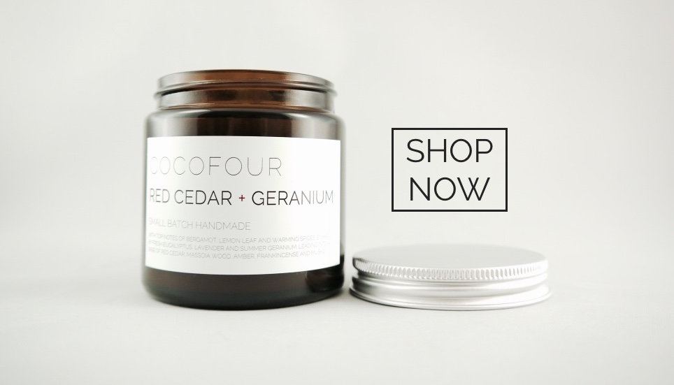 COCOFOUR luxury soy apothecary candles handmade in the UK
