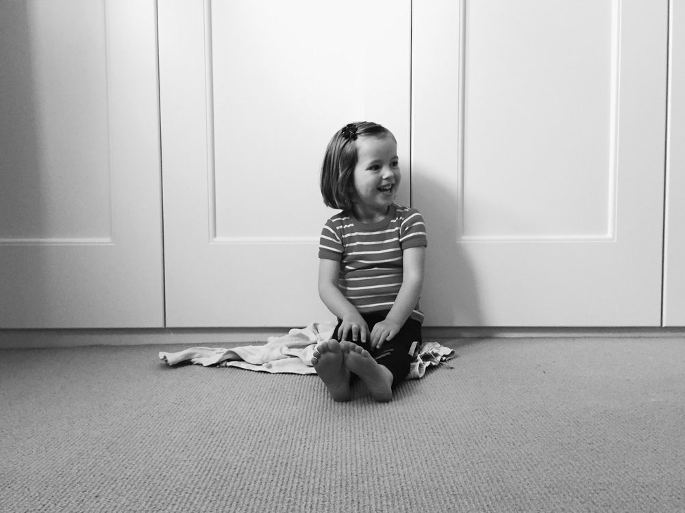 The simple background in this photo ensures that my little girl remains the focus of the image.