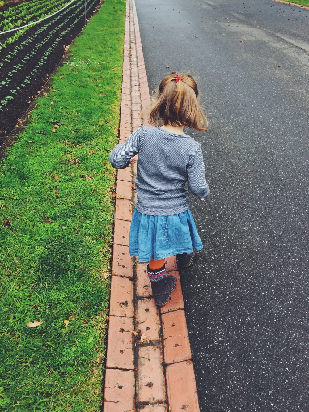 Who doesn't like following lines! I love this photo of my daughter just being a child.