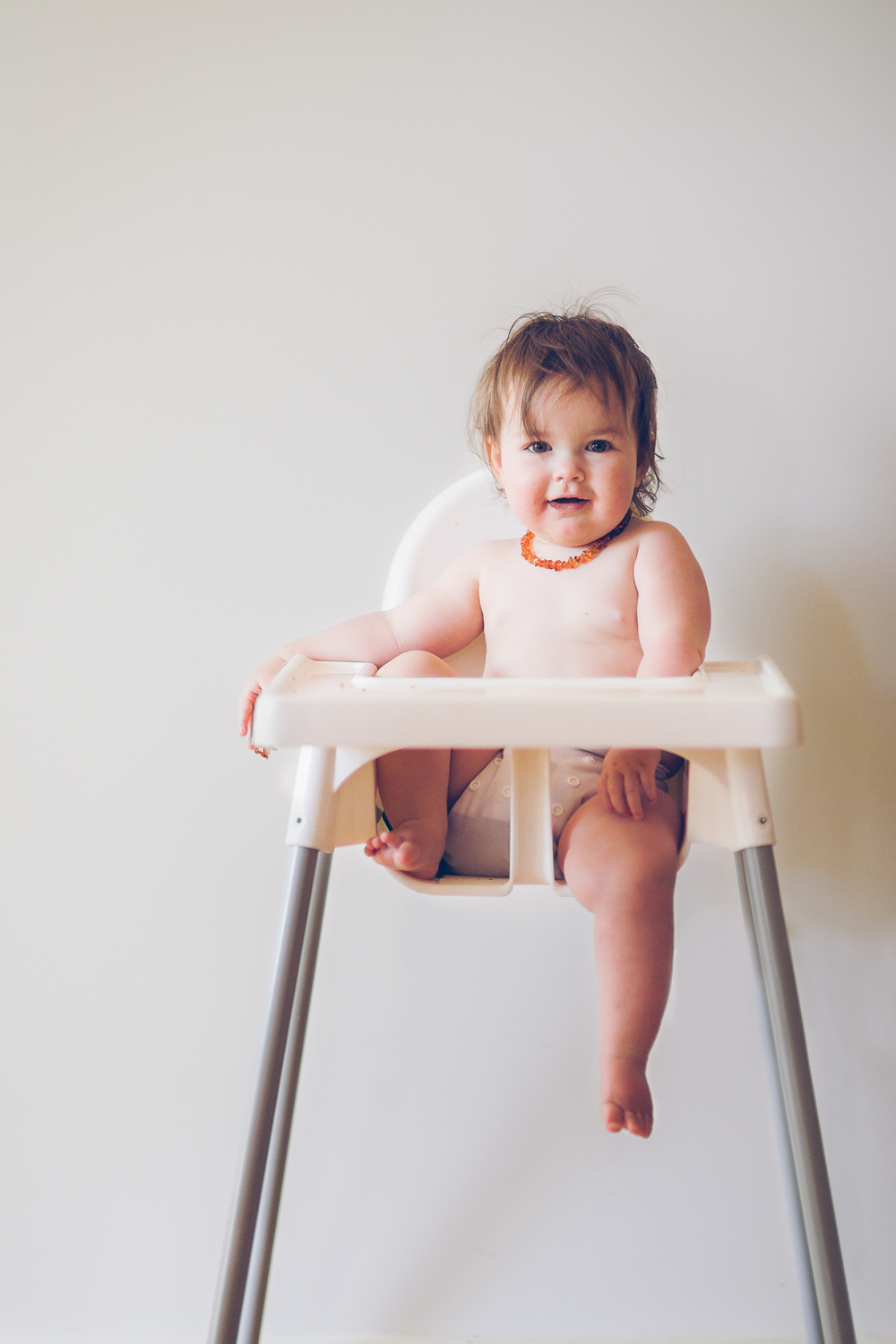 Baby photography - baby in highchair