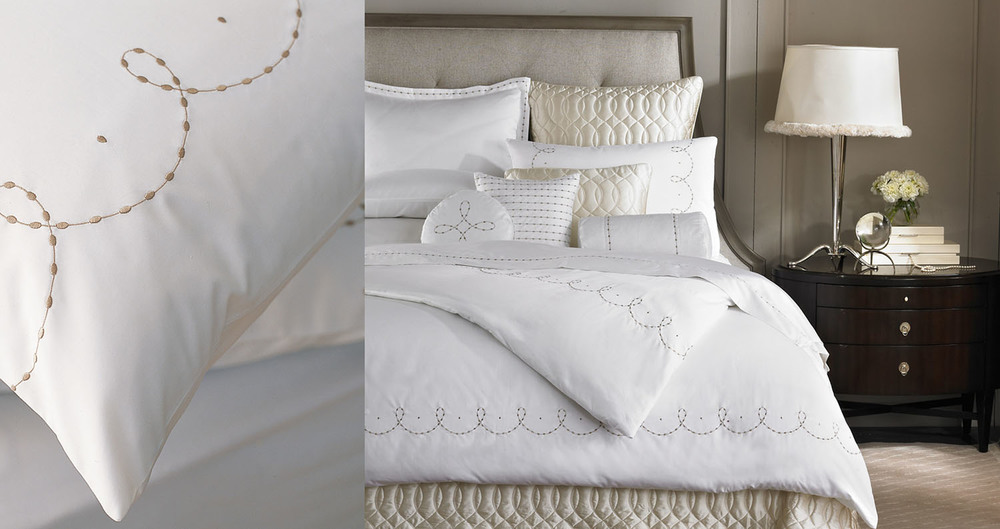 Barbara Barry Dream  - Over a dozen collections of luxury bedding ensembles using embroidery, jacquard and appliqué techniques, designed in collaboration with Barbara Barry and her team.