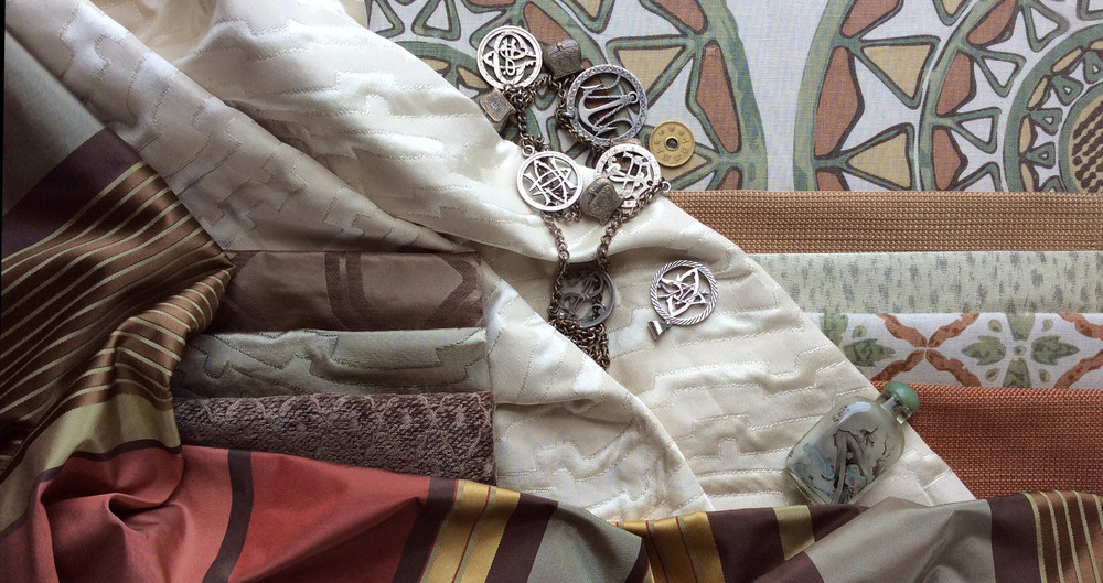 Stratum Textiles - Three collections of original designs for prints and jacquards inspired by the silk-trading history of this boutique fabric house and the Burmese heritage of the founder.