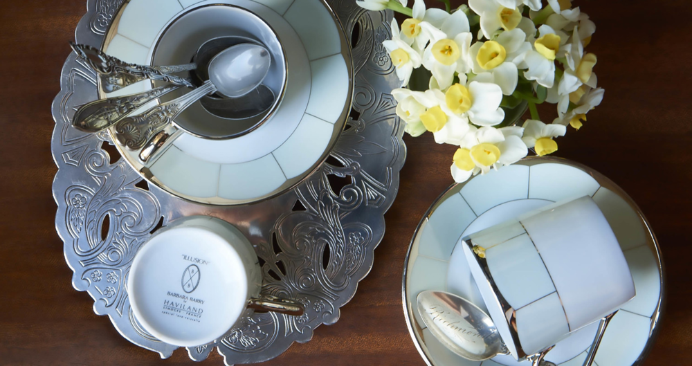 Barbara Barry for Haviland - The Illusion collection of Limoges porcelain dinnerware, developed in collaboration with Barbara Barry and Haviland.