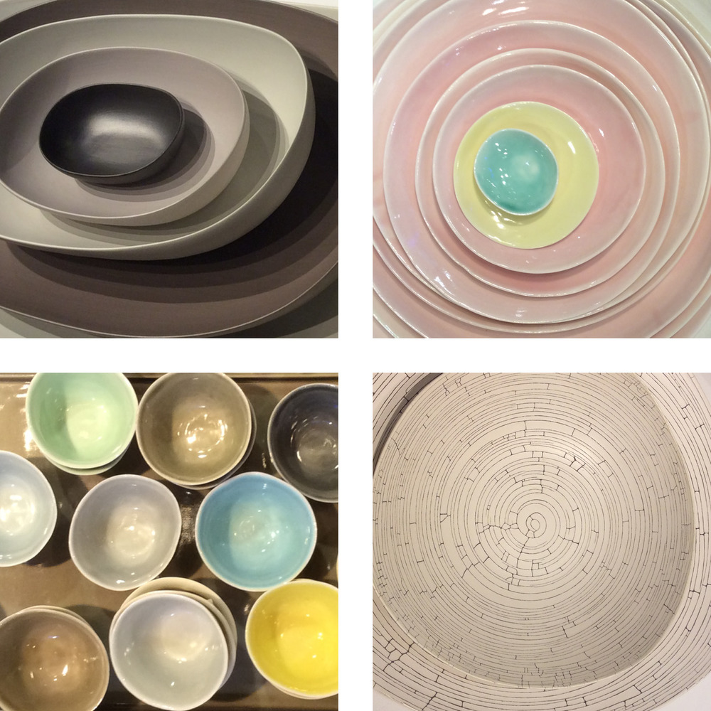 Ceramic offerings ranged from matte to crackle, with lovely hues and organic shapes.