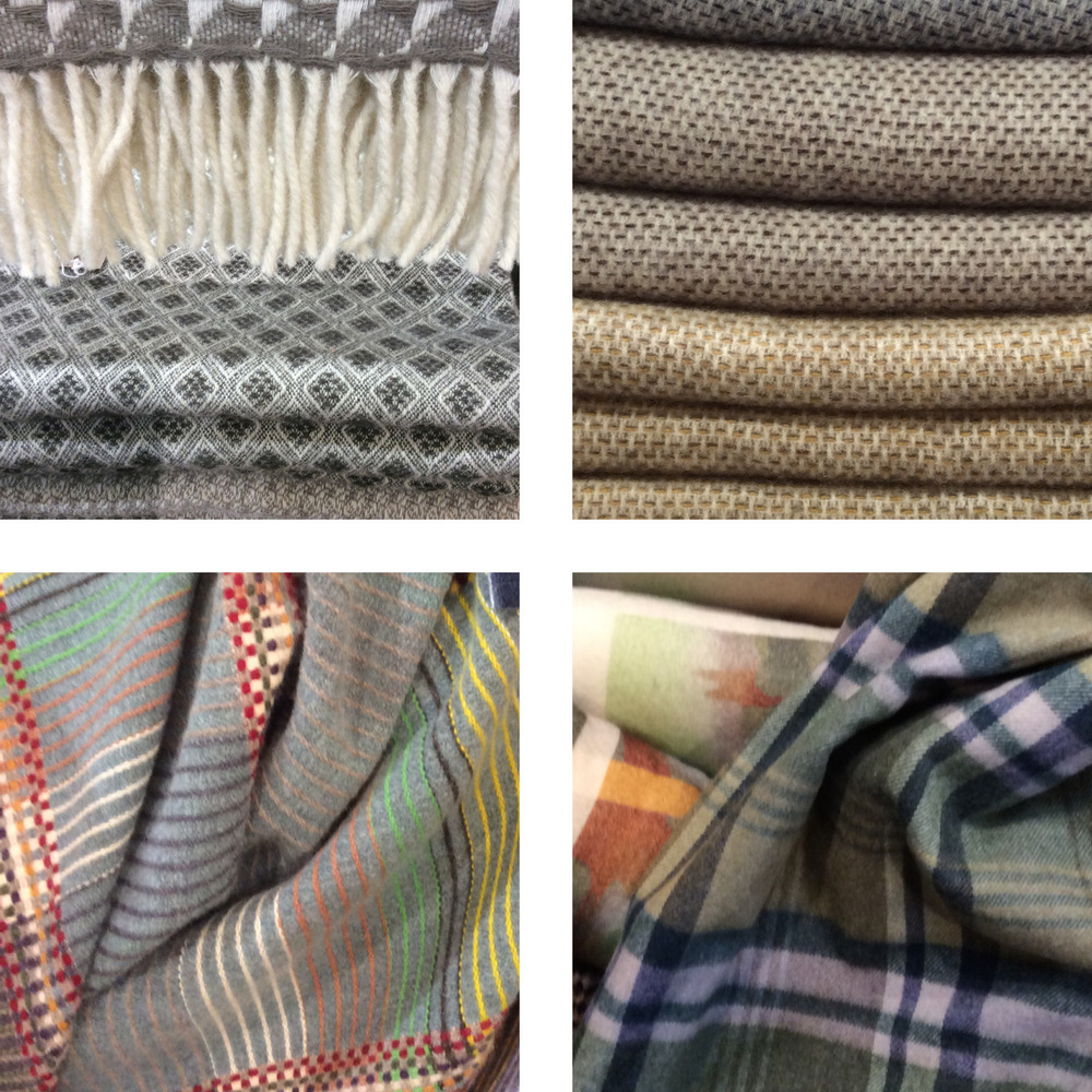 Cashmere and merino wool blankets in a variety of looks.