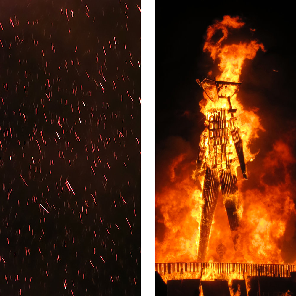 The eponymous burning Man, 2015