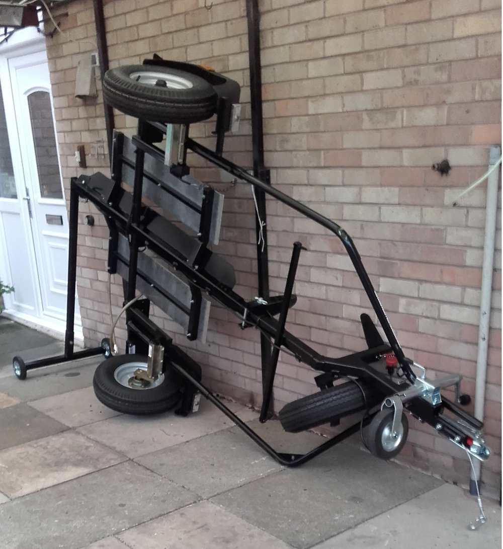 Trailer on storage dolly