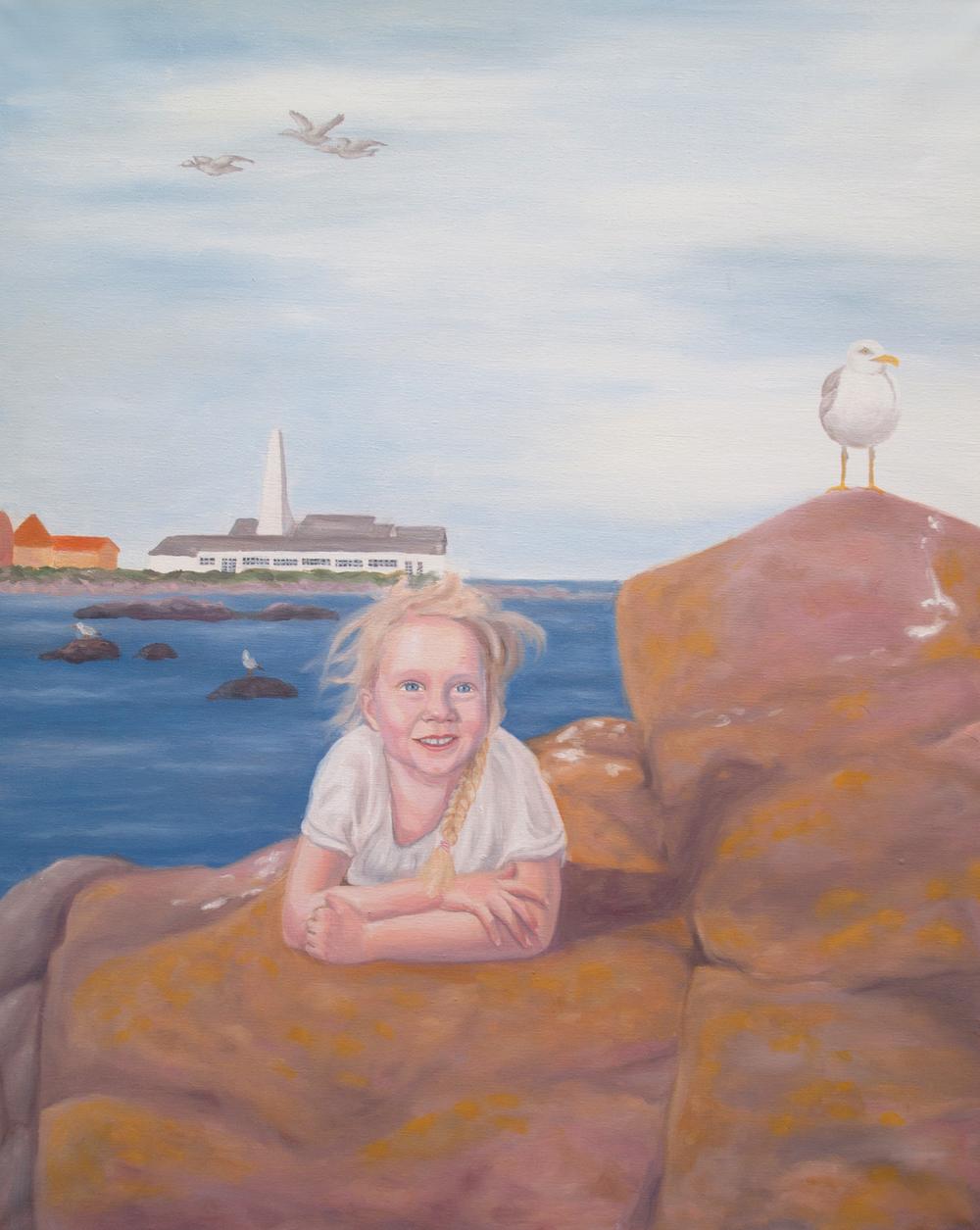 Portrait of Viktoria, 5 years old.