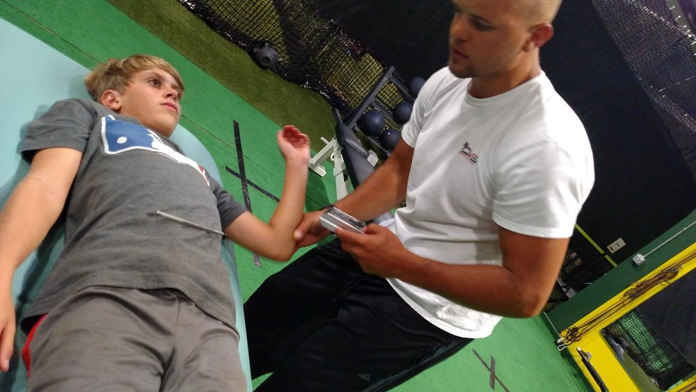 Range of motion Case Study performed on youth pitcher