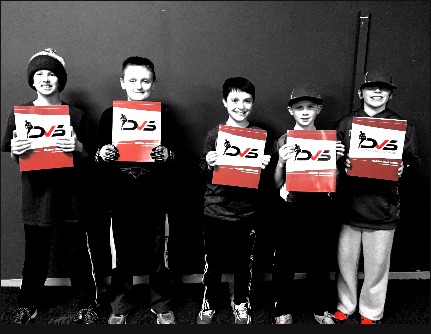 Group of youth pitchers getting their DVS Scores