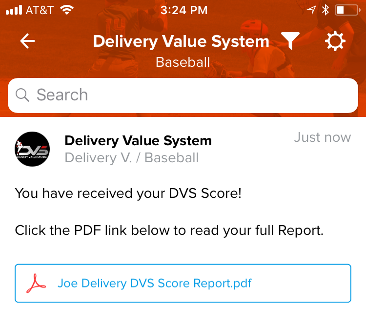 Receive Your Score - Within 72 hours after you upload your video, we will finalize your DVS Score Report and upload directly back into your training space.