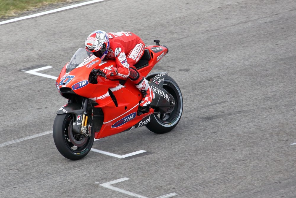 Ducati & Stoner! Casey Stoner. 05 September 2010. MotoGP @ 2010 Misano Adriatico & Rep. of San Marino. 1/4000 s, f/7.1, ISO 1000, 300 mm, EOS 5D MkII + EF 28-300 L