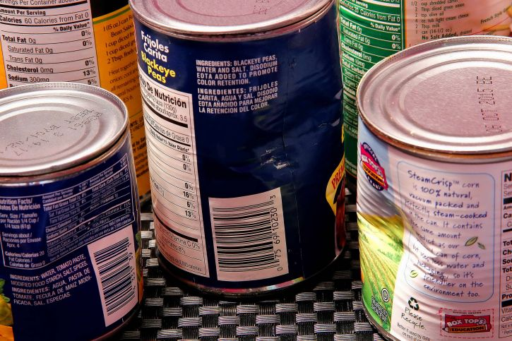 Canned vegetables should be rinsed or avoided.